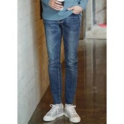 JOGUNSHOP - Washed Regular-Fit Jeans