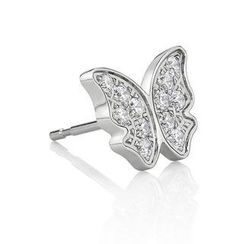 Kenny & co. - Crystal Butterfly Steel Earring