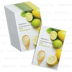 Innisfree - It's Real Squeeze Mask (Lime) Set