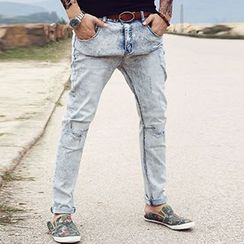 Mannmix - Distressed Washed Jeans