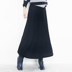 Beccgirl - Band-Waist Maxi Skirt