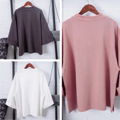 Tiny Times - 3/4 Sleeve Plain Pullover