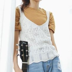 Windflower - Open Knit Vest