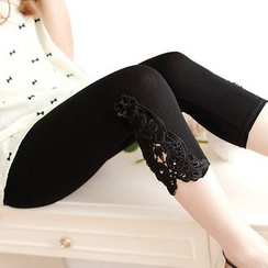 nooyi - Lace-Panel Leggings