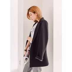 J-ANN - Notched Lapel One-Button Blazer