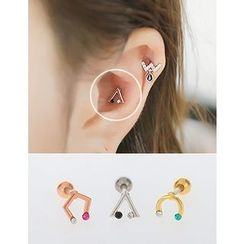 soo n soo - Rhinestone Shape Piercing (3 Types, Single)
