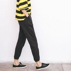 Porta - Plain Tapered Pants