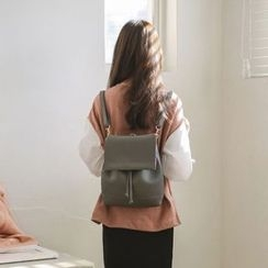 JUSTONE - Flap Drawstring Backpack