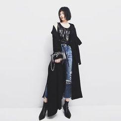 Sonne - Asymmetric Slit-Hem Long Jacket