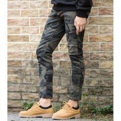 ABOKI - Camouflage Slim-Fit Pants