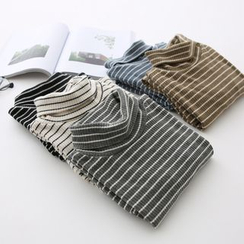 LEMONADE - Long-Sleeve Turtleneck Striped Top