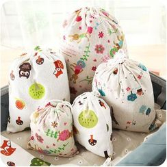 Fun House - Printed Drawstring Storage Bag