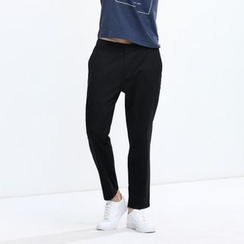 Yishion - Drop-Crotch Slim-Fit Pants