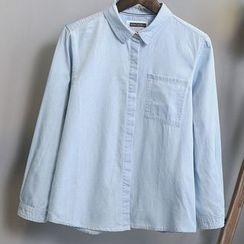 PANDAGO - Washed Denim Shirt