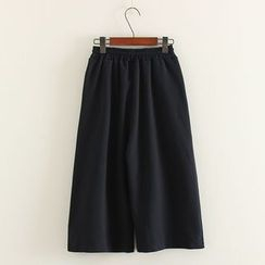 Mushi - Capri Wide-Leg Pants