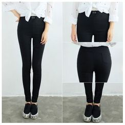Angel Shine - High-waist Tapered Pants