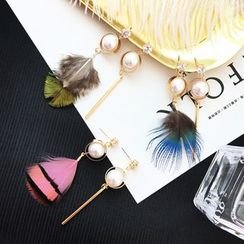 FROME - Faux Pearl Non-Matching Earrings