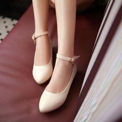 Charming Kicks - Ankle Strap Pumps