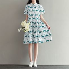 Fancy Show - Short-Sleeve Printed Dress