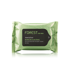 Innisfree - Forest For Men Perfect All-in-one Tissue (15 pcs)