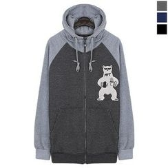 Seoul Homme - Zip-Up Printing Hoodie Jacket