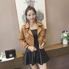 Be Bonita - Set: Faux-Suede Jacket + Skirt