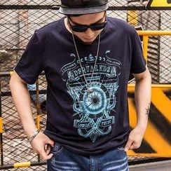 GARBO - Shirt-Sleeve Printed T-Shirt