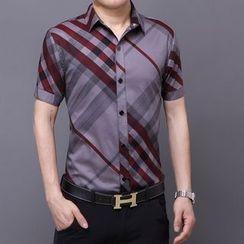 JIBOVILLE - 格子短袖襯衫