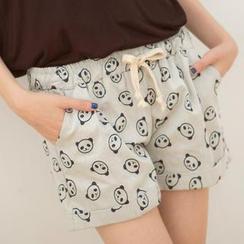 Tokyo Fashion - Drawstring-Waist Panda-Print Shorts