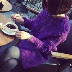 Ichiyarn - Plain Chunky Long Sweater