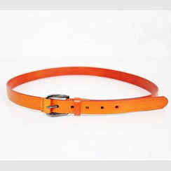 Mr. Cai - Faux-Leather Slim Belt