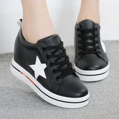 Renben - Star Hidden Wedge Sneakers