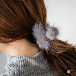 OrangeBear - Furry Ball Hair Clamp