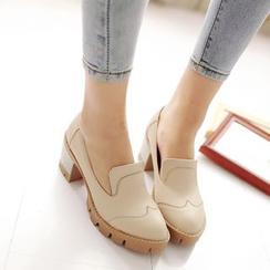 Pastel Pairs - Block Heel Loafers