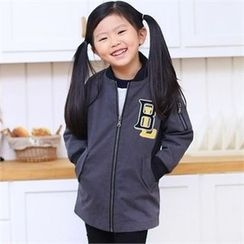 TWINSBILLY - Kids Lettering Long Flight Jacket
