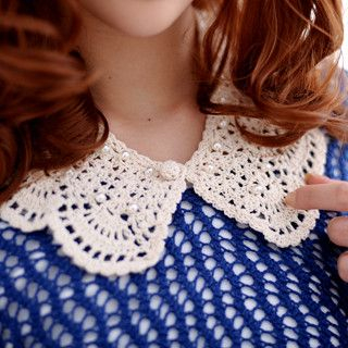 59 Seconds - Scalloped Crochet Collar