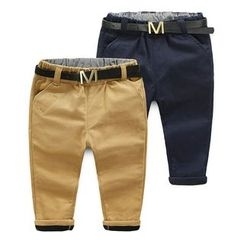 Seashells Kids - Kids Fleece-Lined Pants with Belt