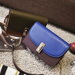 Nautilus Bags - Two Tone Boxy Crossbody Bag