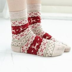 BAIMOMO - 图案袜
