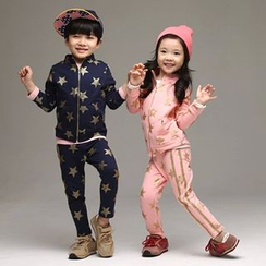 Seashells Kids - Kids Set: Star Print Jacket + Pants