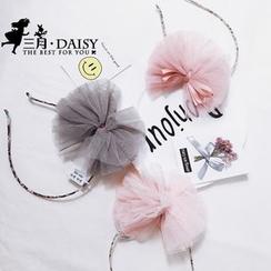 March Daisy - 蝴蝶結蕾絲兒童髮箍