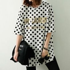 Ranee - Short-Sleeve Polka-Dot T-Shirt