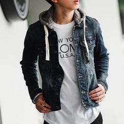 SeventyAge - Hooded Denim Jacket