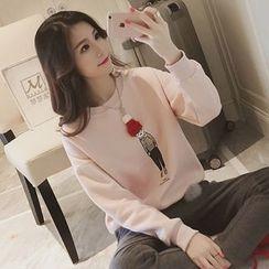 Shimi - Beanie Applique Pullover