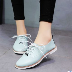 Moonlit Valley - Faux-Leather Oxford Shoes