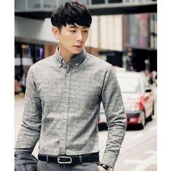 MEOSIDDA - Long-Sleeve Checked Shirt