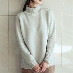 YOOM - Cashmere Blend Mock-Neck Sweater