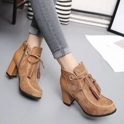 Yoflap - Block Heel Ankle Boots