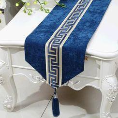 Sun East - Tasseled Panel Table Mat