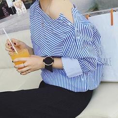 Jolly Club - 条纹宽松衬衫